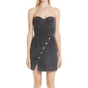 Onyx Denim sweetheart strapless dress